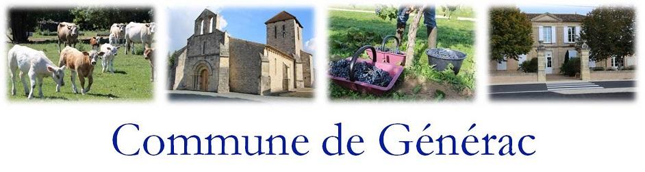 Bienvenu sur le site de la commune de Générac